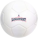 White smooth soccerball for printing, logo on the soccerball, fast printing on the soccerball, no name soccerball,full color prints on sportsball, logo text printing on the football